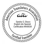 ATA Certified English - Spanish Translator